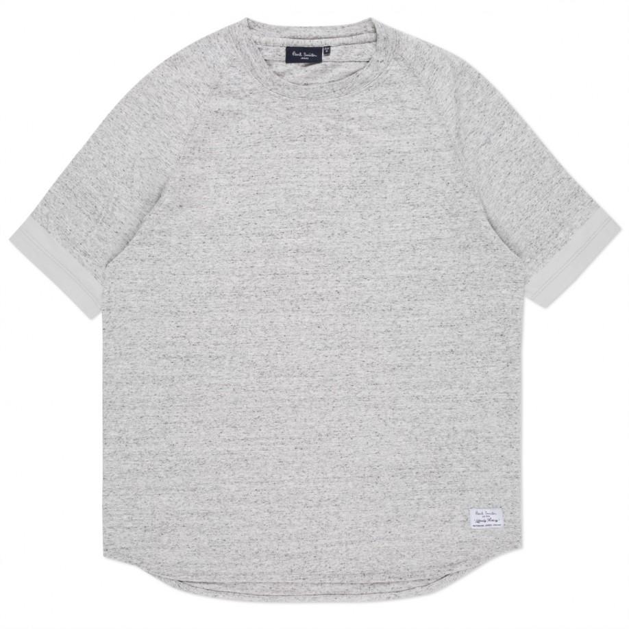 Paul smith men 39 s grey marl raglan sleeve t shirt in gray for Grey marl t shirt