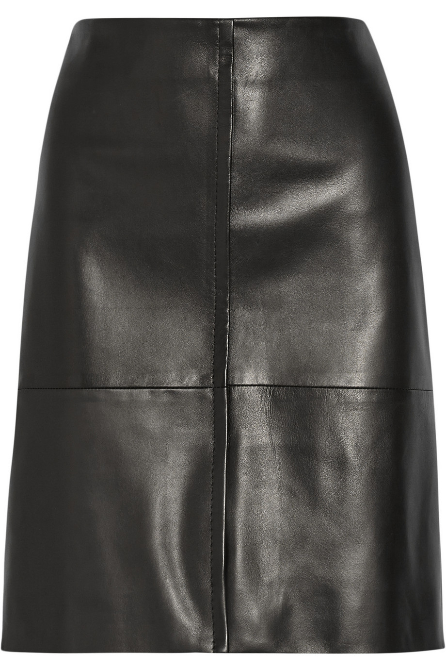 the row curlan paneled leather skirt in black lyst