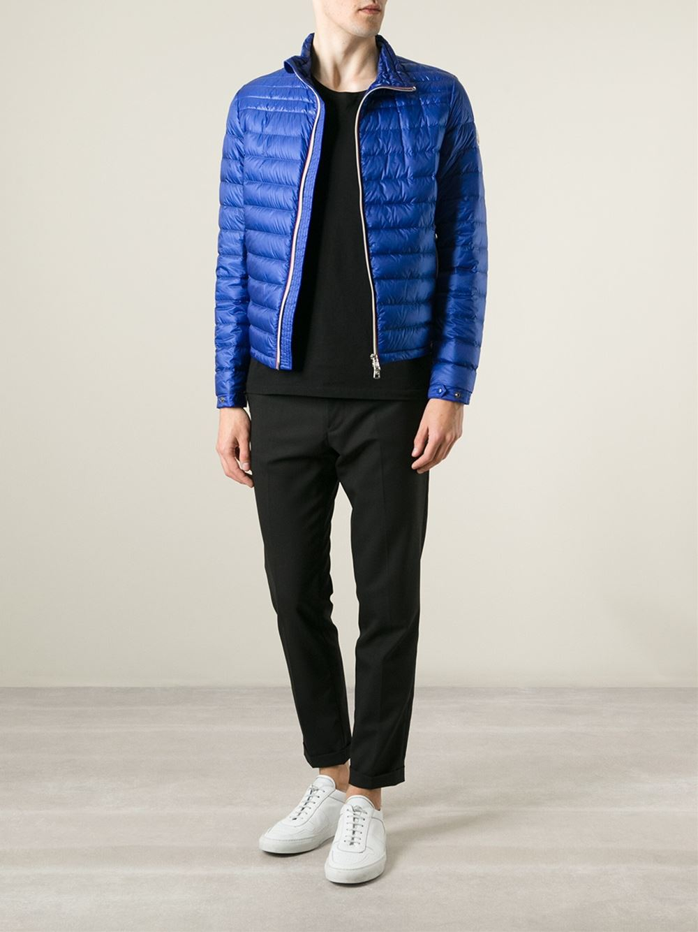 d9c844987a6b closeout lyst moncler daniel padded jacket in blue for men 1369a 51005