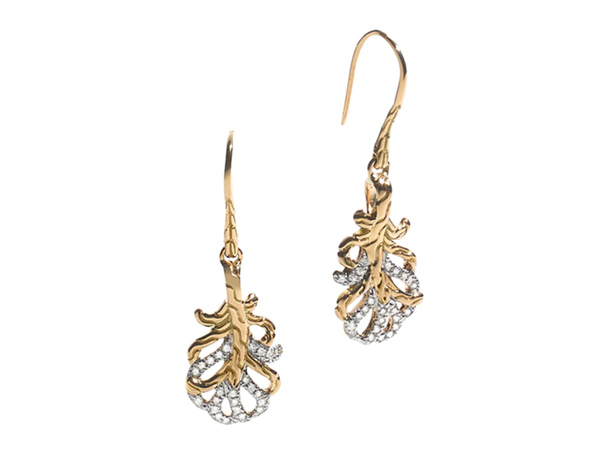 John Hardy 18k Classic Chain Diamond & Moonstone Droplet Earrings eEBBxQizIj