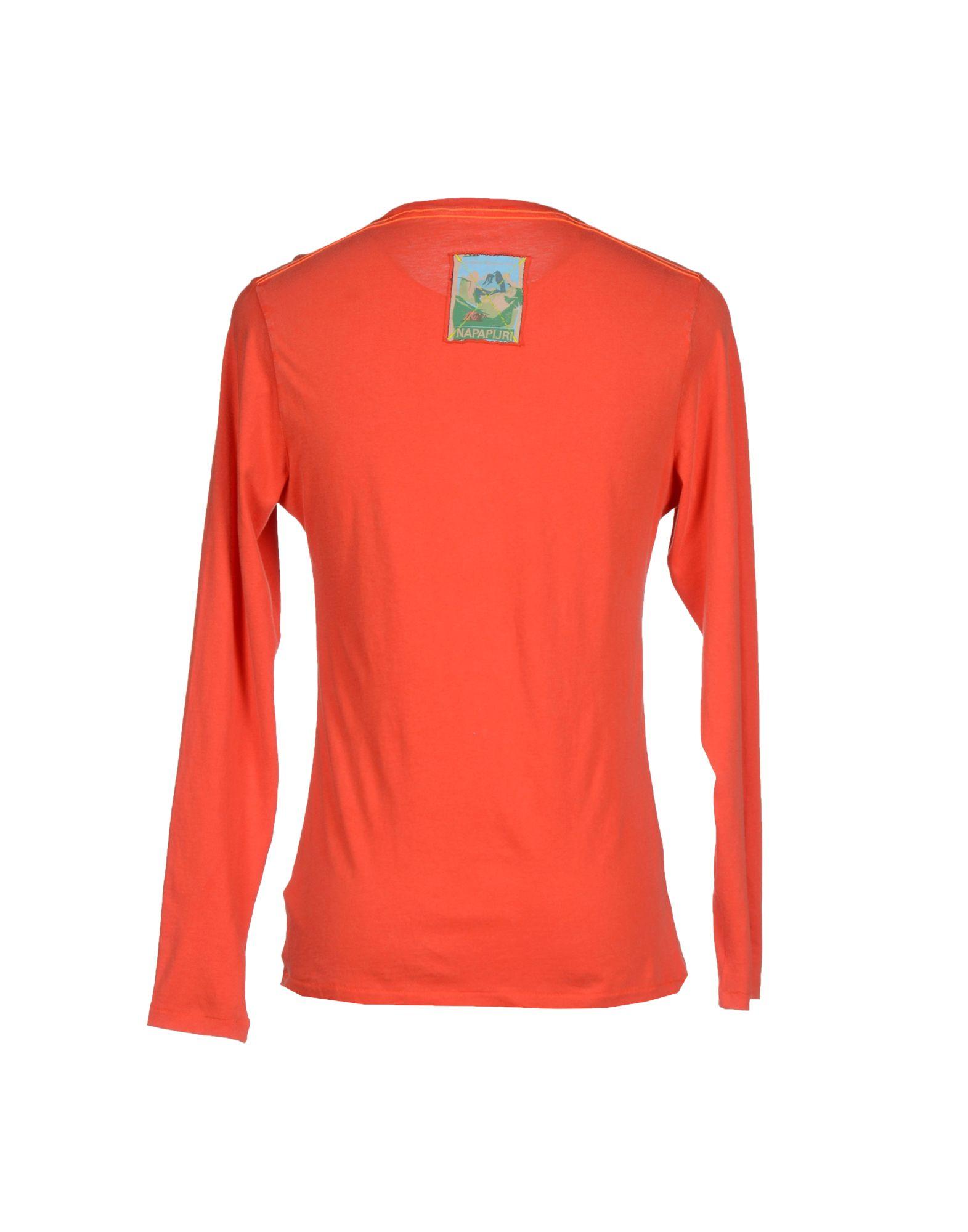 napapijri t shirt in red for men lyst. Black Bedroom Furniture Sets. Home Design Ideas