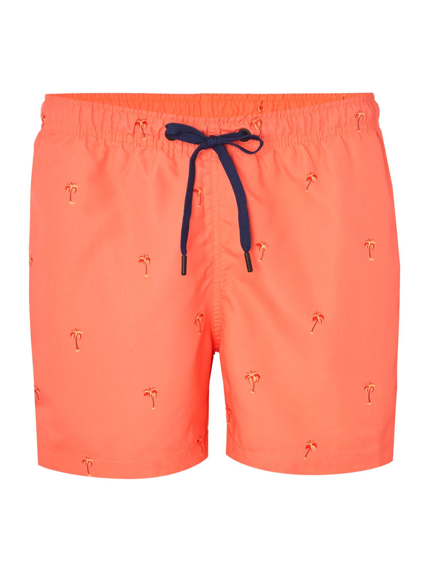 8930f4602b3a2 Björn Borg Mid Length Palm Print Swim Shorts in Orange for Men - Lyst