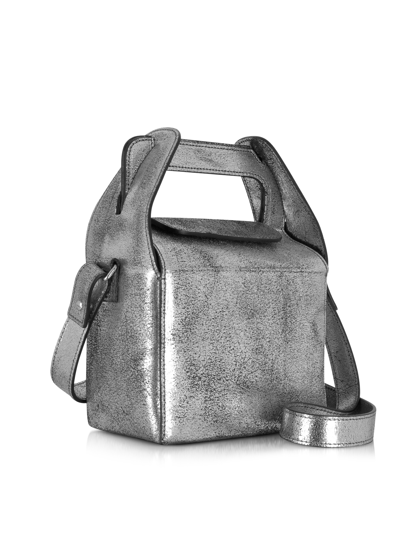 Womens Metallic-Coated Canvas Triangle Bag Maison Martin Margiela 1G52P34xv