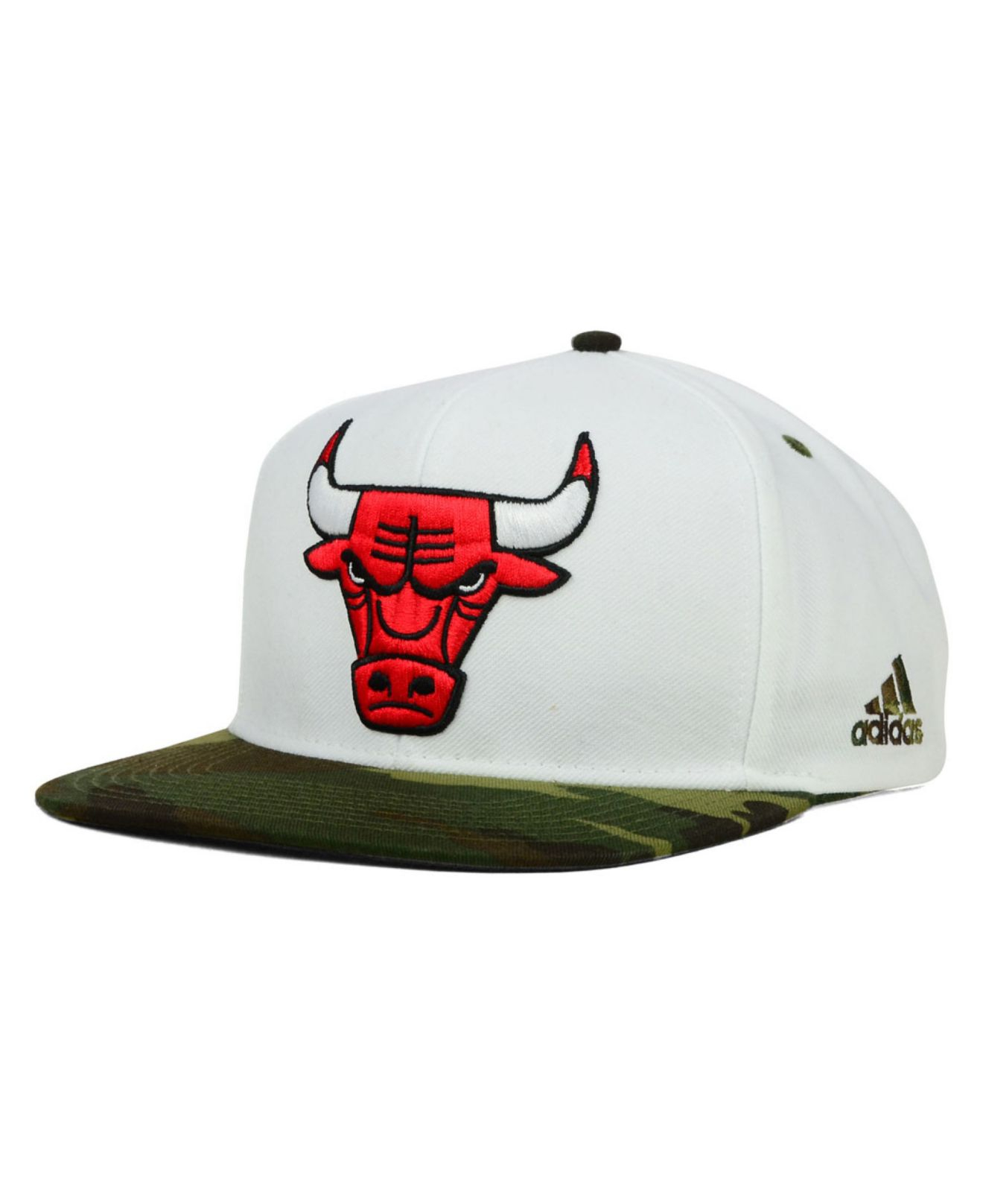 7ea536913b07a ... new zealand lyst adidas chicago bulls white camo snapback cap in white  for men 82d9e 56f87