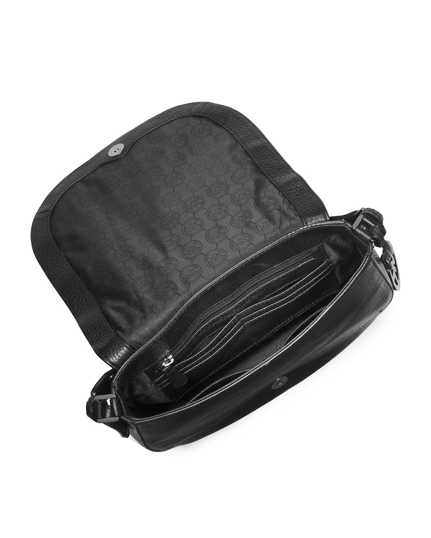 9f1c842c2f12a7 Michael Kors Michael Hayes Large Messenger Bag in Black - Lyst