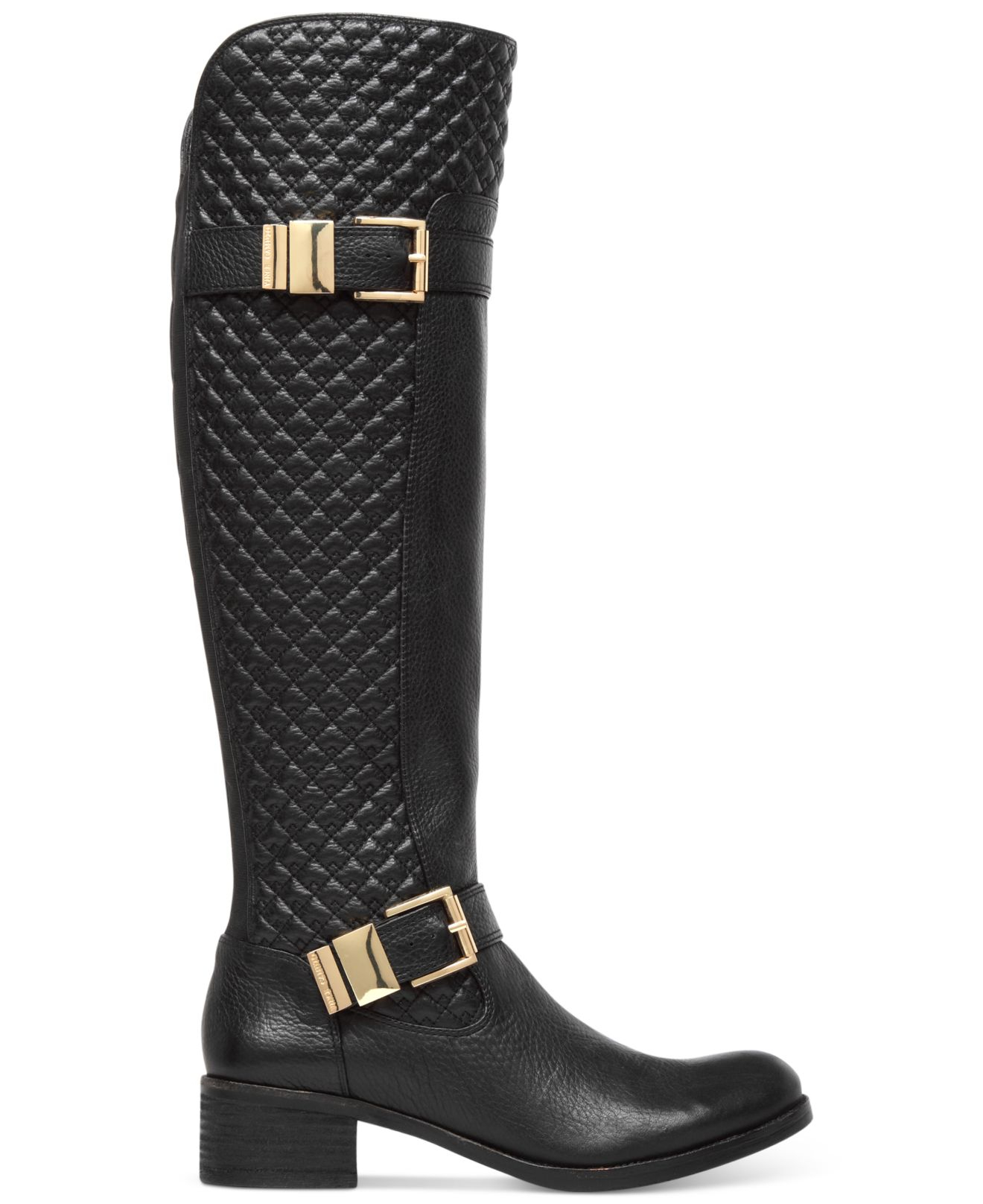 Vince camuto Faris Quilted Tall Boots in Black   Lyst : quilted tall boots - Adamdwight.com