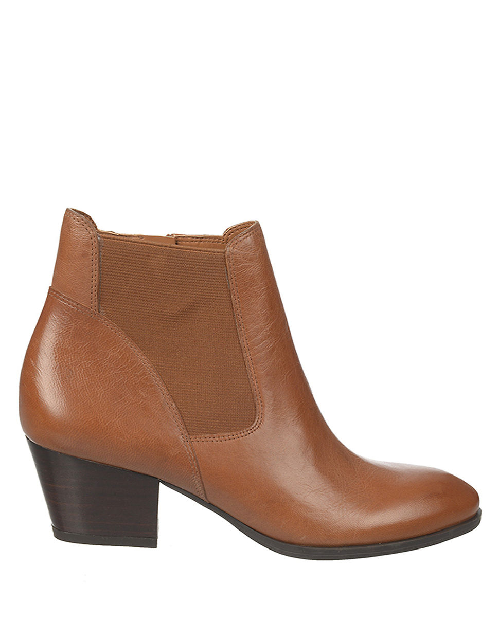 franco sarto gypsum leather ankle boots in brown lyst