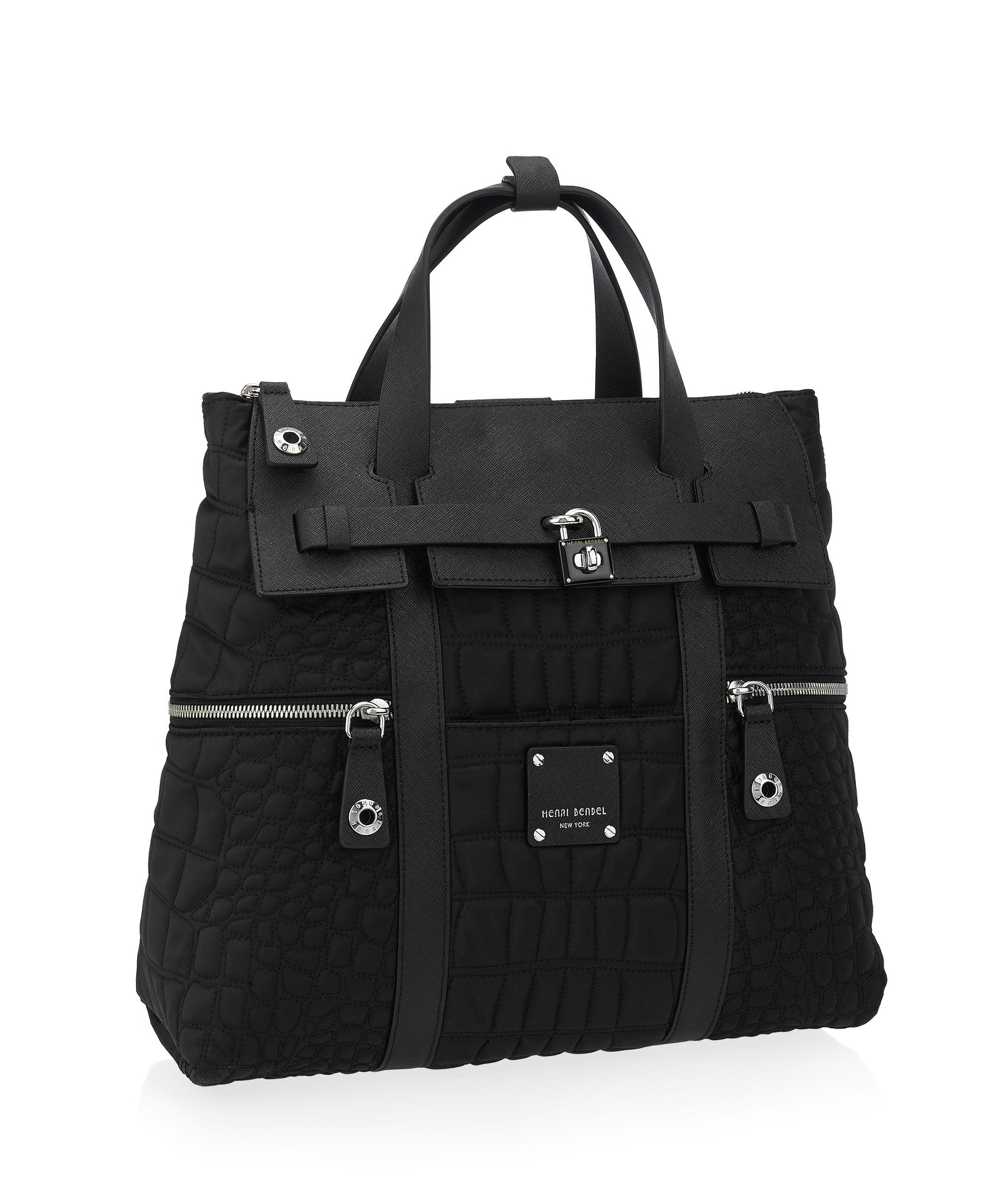 Henri Bendel Jetsetter Quilted Convertible Backpack In
