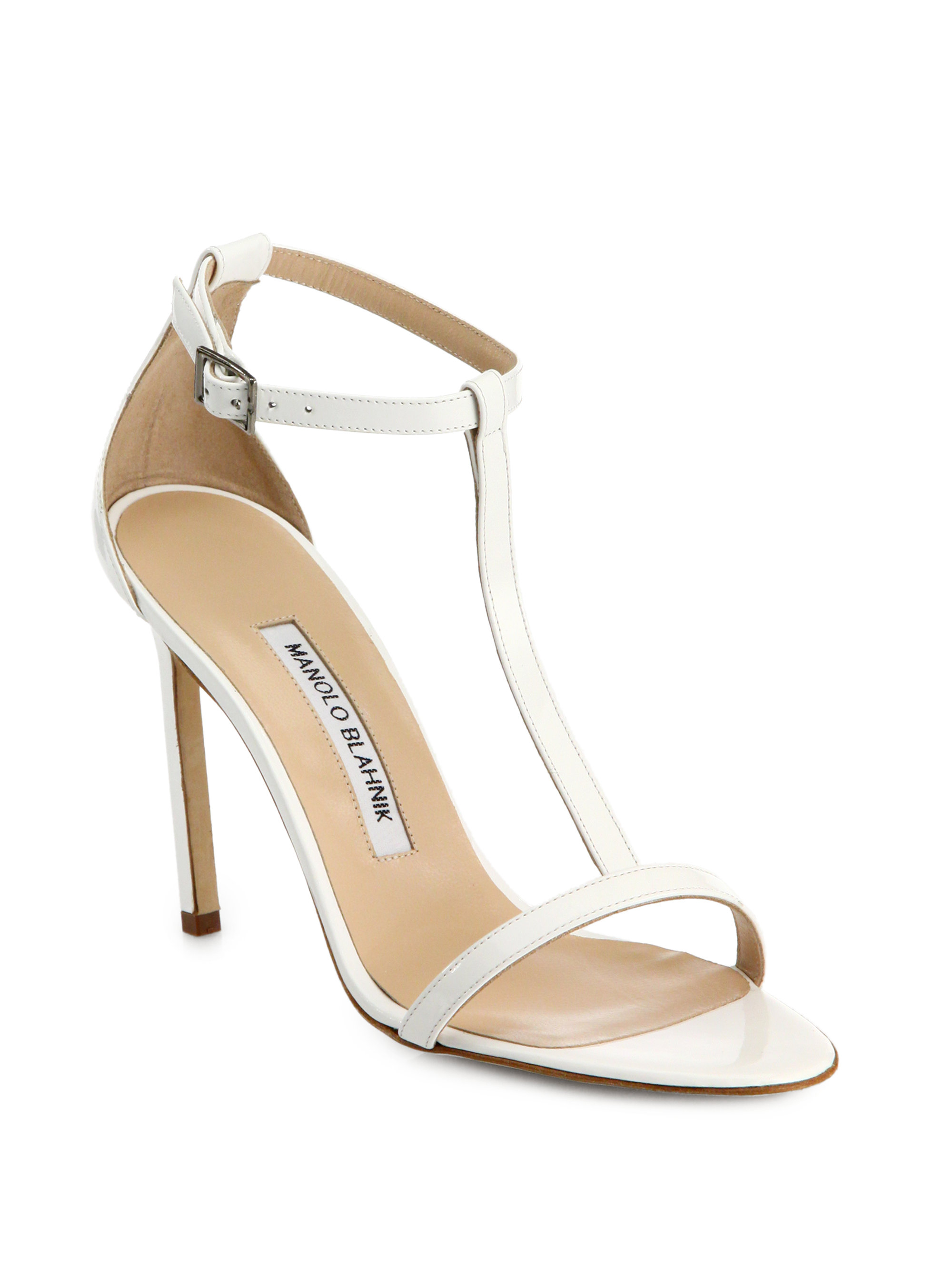 Manolo Blahnik Ruffle-Trimmed T-Strap Sandals outlet store sale online discount fashionable gIpzNe