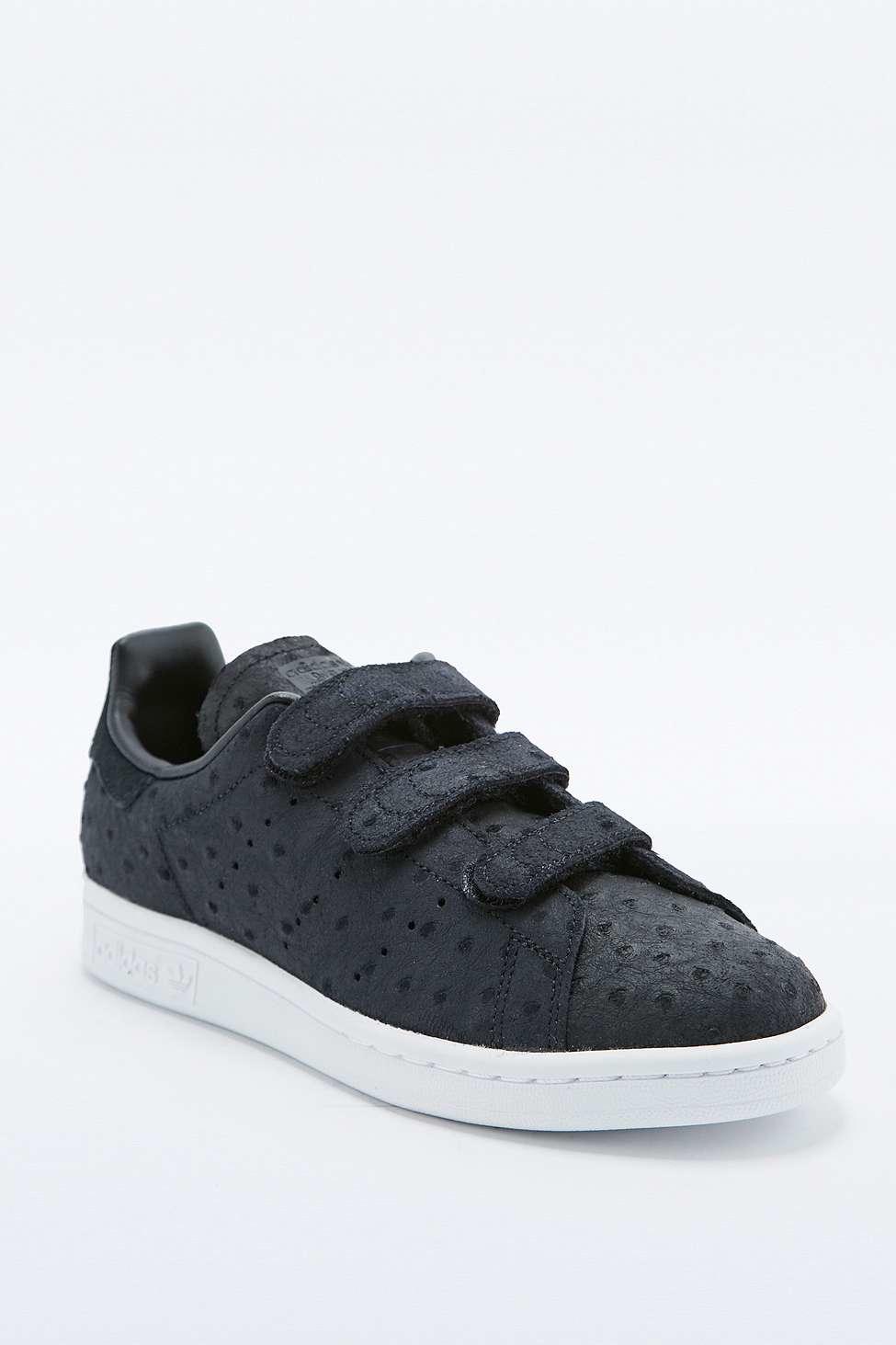 Mens Adidas Stan Smith Leather Velcro