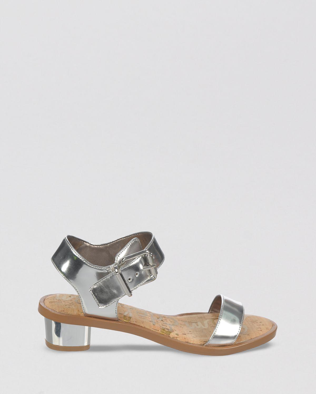 Lyst Sam Edelman Open Toe Sandals Trina Block Heel In Gray