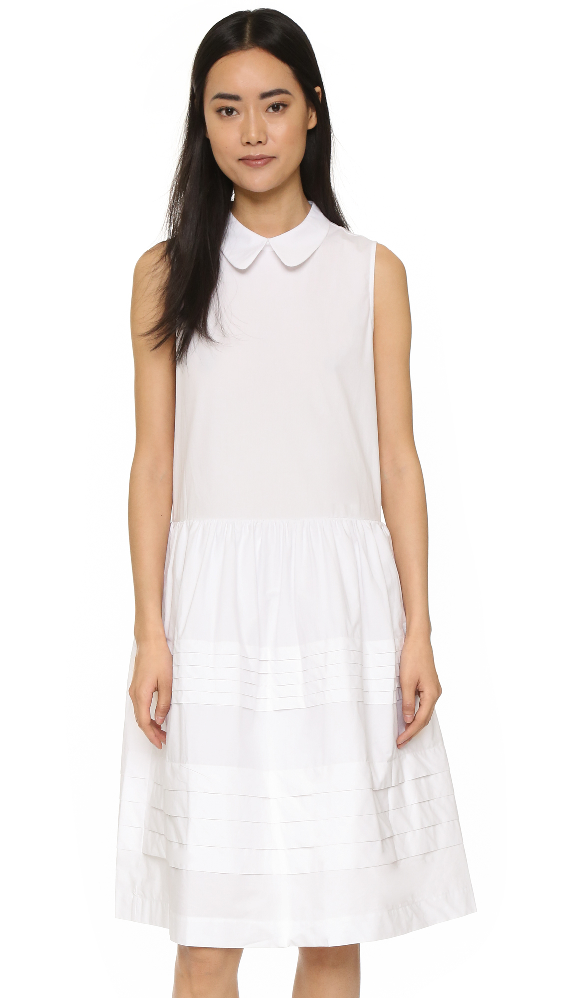 Lyst English Factory Collared Dress In White