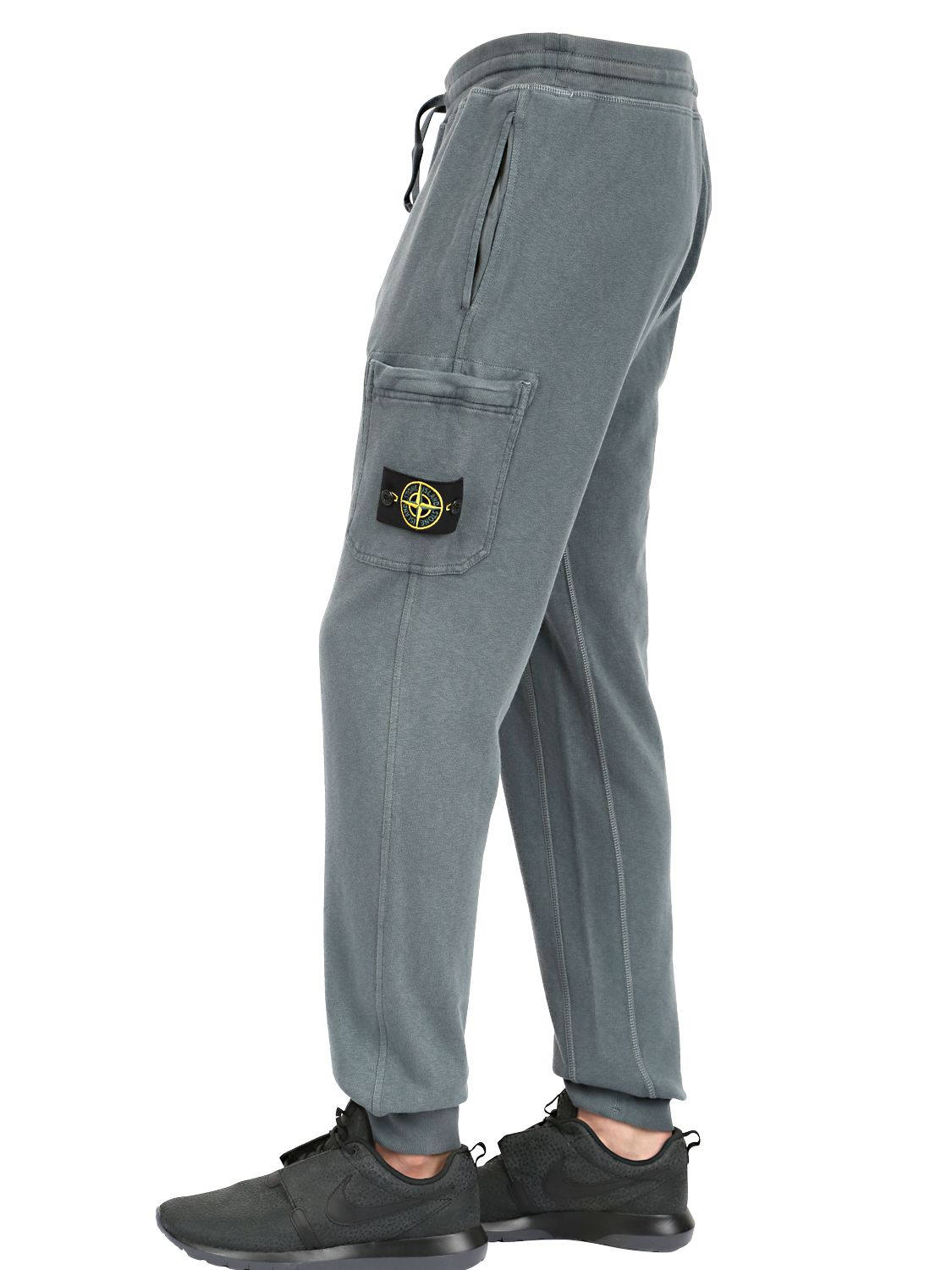 Lyst Stone Island Garment Dyed Cotton Jogging Pants In