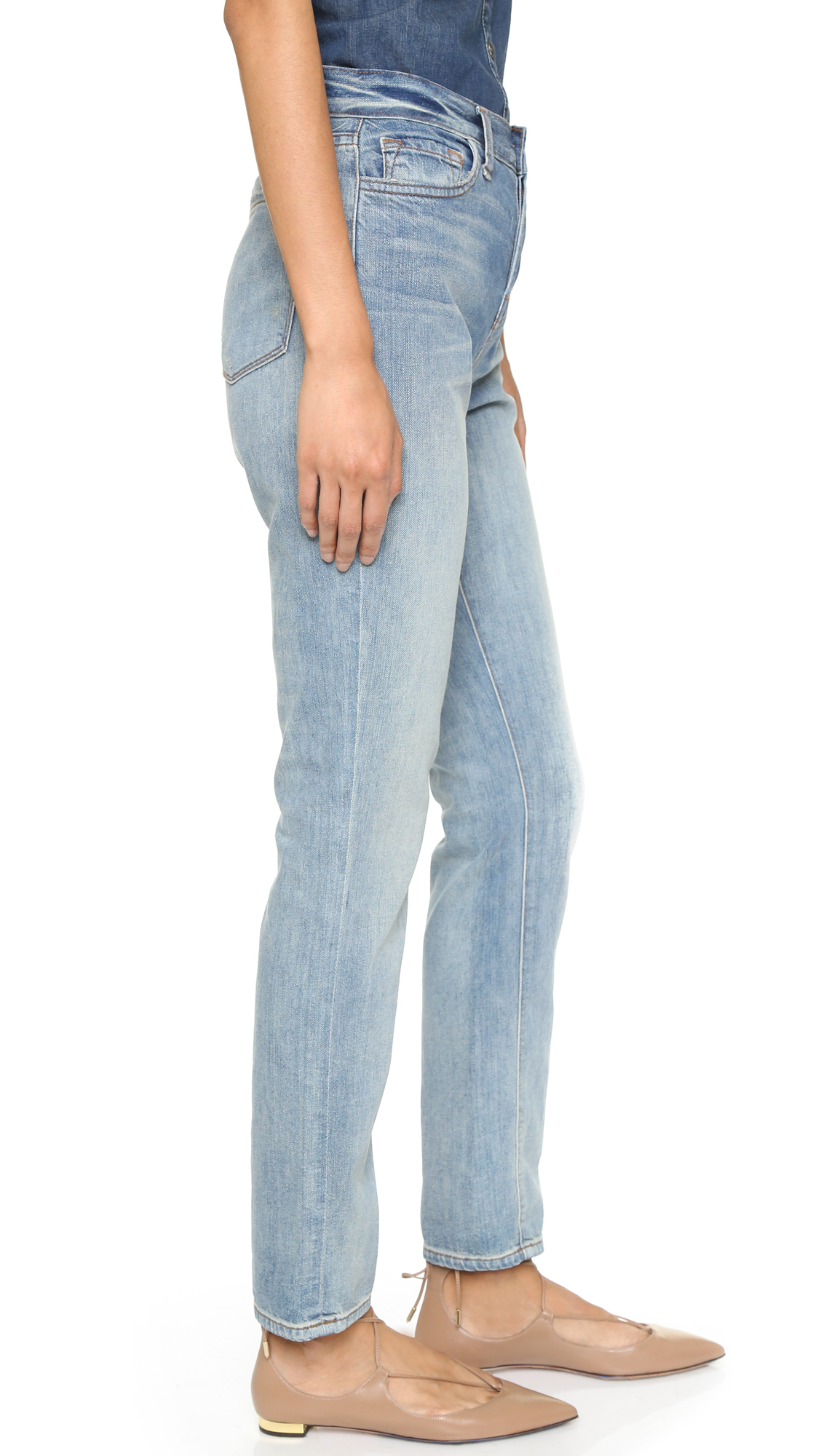 J brand Arley High Rise Boyfriend Jeans in Blue | Lyst