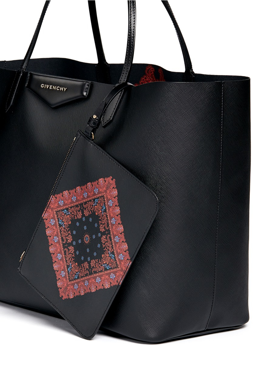 ... sale c59a7 81e92 Lyst - Givenchy Antigona Coated-Twill Tote in Black   official store ... 1b4d99366e