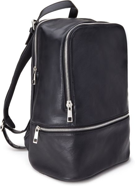 Forever 21 Mini Faux Leather Backpack In Black Lyst