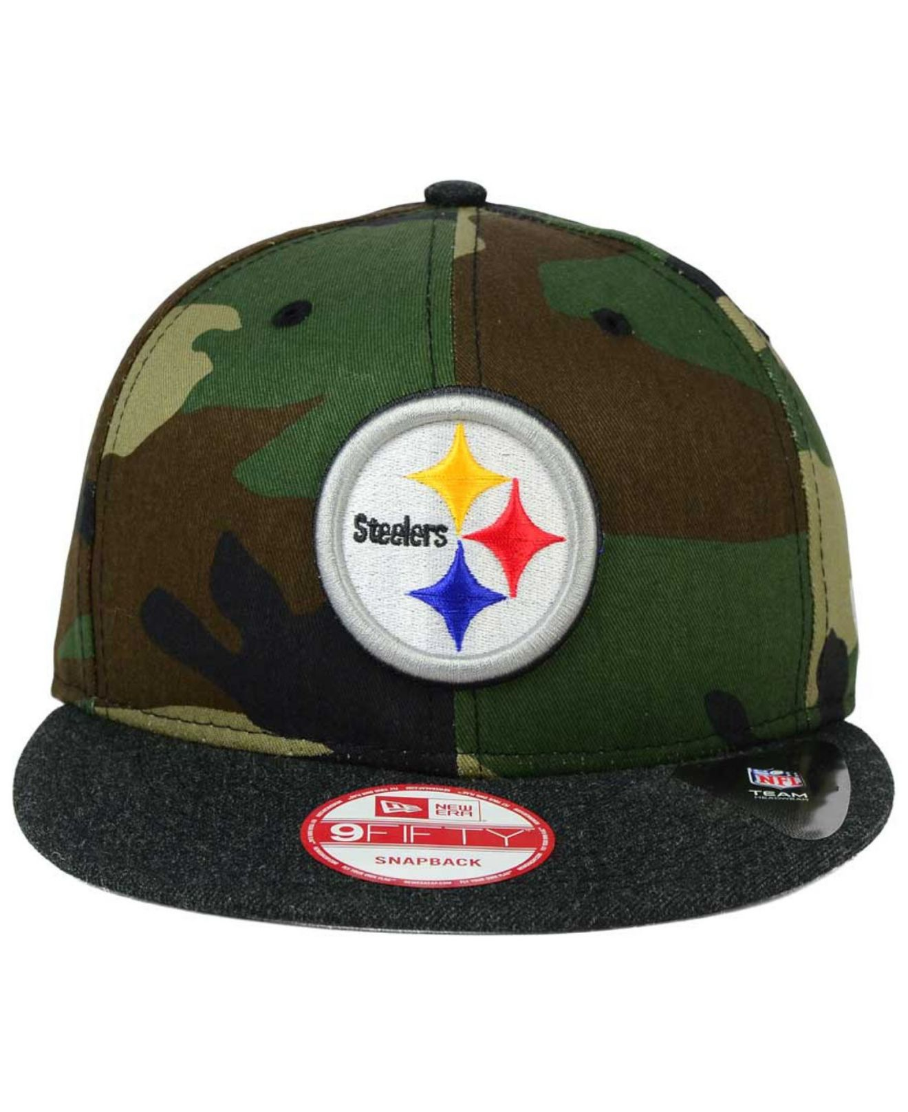 timeless design 4eec1 1f0f7 ... order lyst ktz pittsburgh steelers camo heather 9fifty snapback cap in  7936c 6ba90