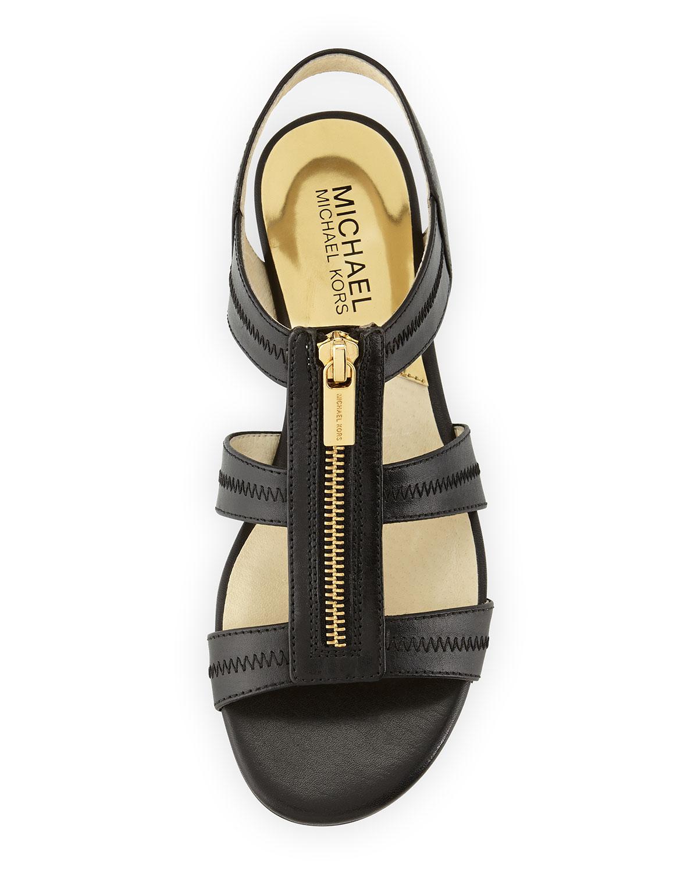 1a7ba62880c99 Lyst - MICHAEL Michael Kors Berkley T-Strap Flat Sandal in Black