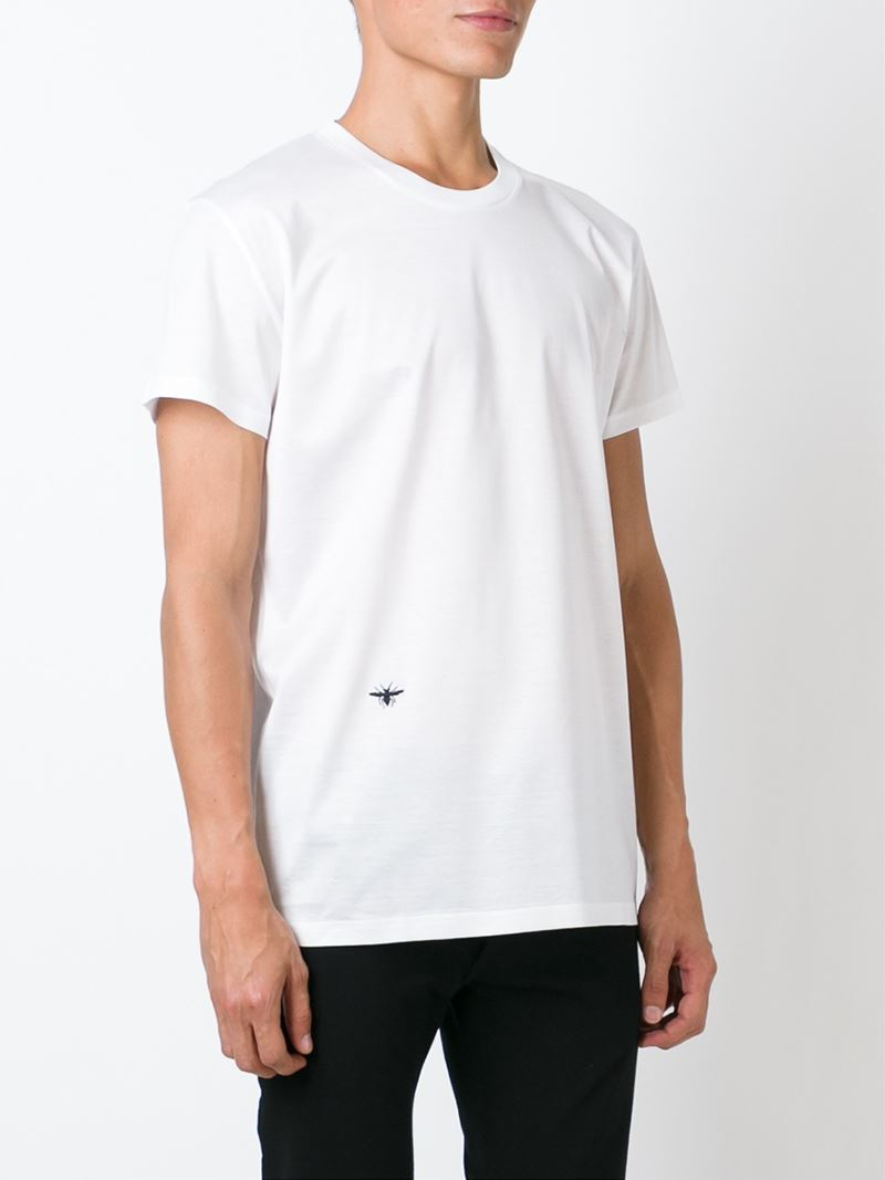 f2cdc270 Dior Homme Insect Embroidery T-shirt in White for Men - Lyst