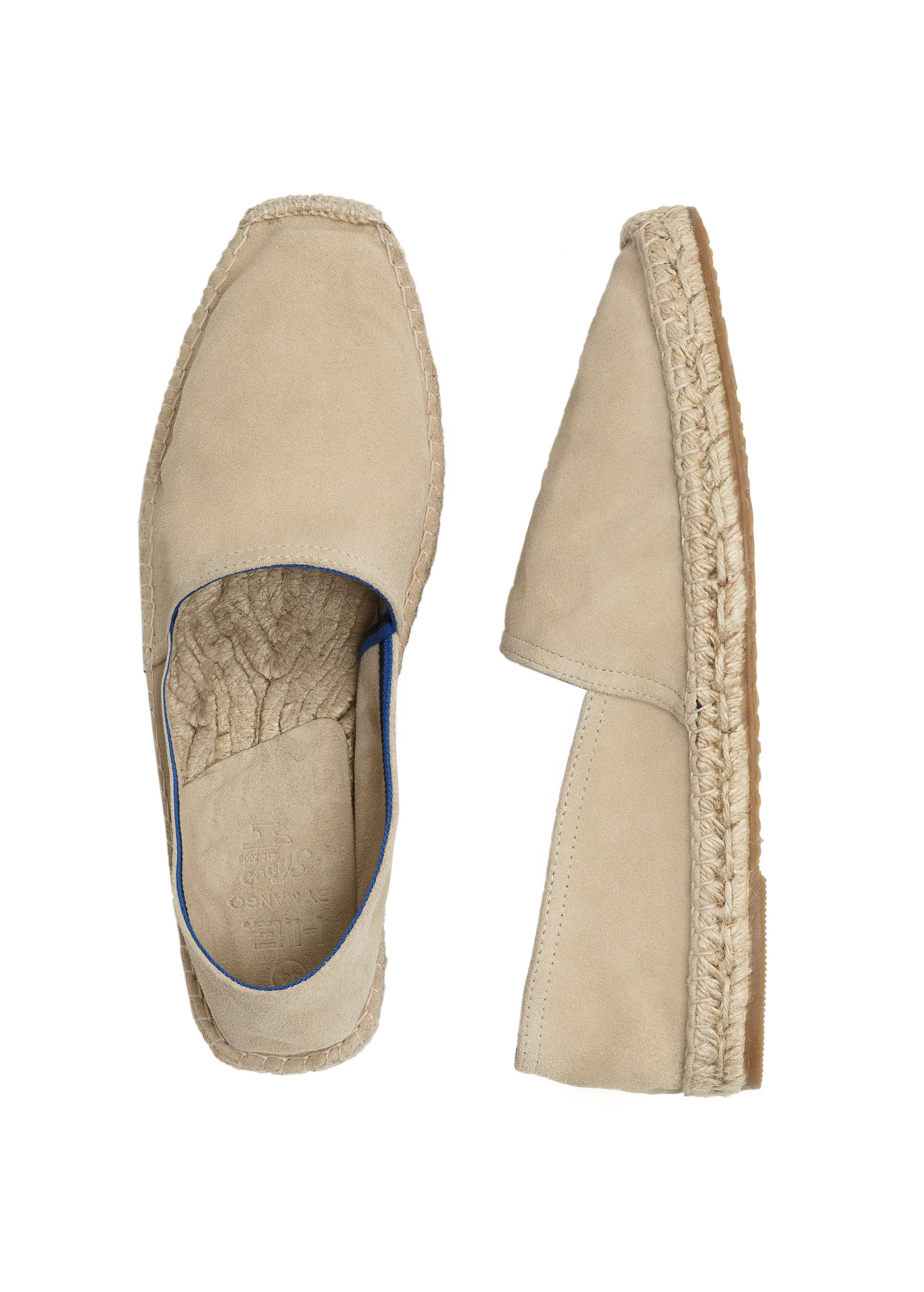 Lyst Mango Jute Sole Suede Slipon Shoes In Natural For Men