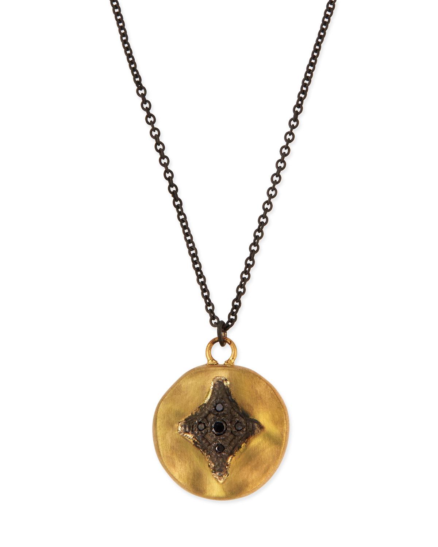 Armenta Old World Midnight Pavé Diamond Cushion Necklace ARVWAZMV