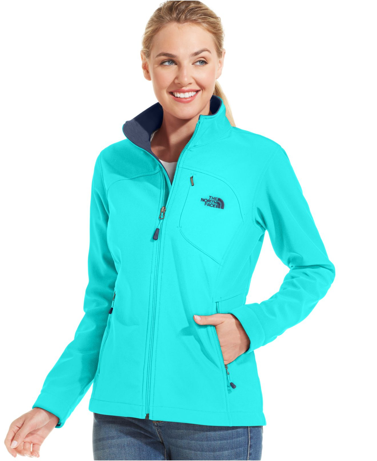 the north face apex bionic soft shell jacket in green lyst. Black Bedroom Furniture Sets. Home Design Ideas