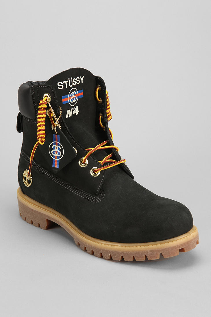 Lyst - Urban Outfitters Timberland X Stussy Boot in Black for Men 2e6734452631
