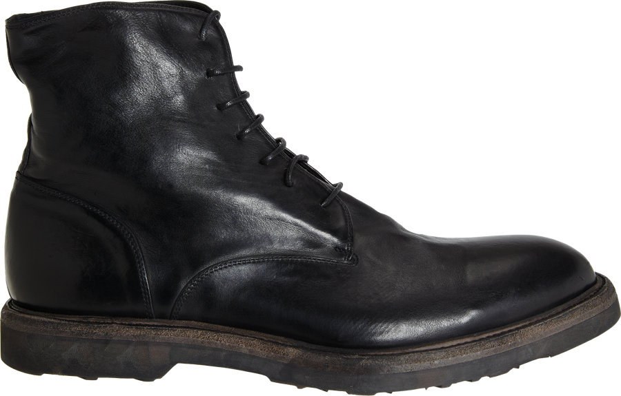 Lyst Barneys New York Thick Sole Combat Boot In Black