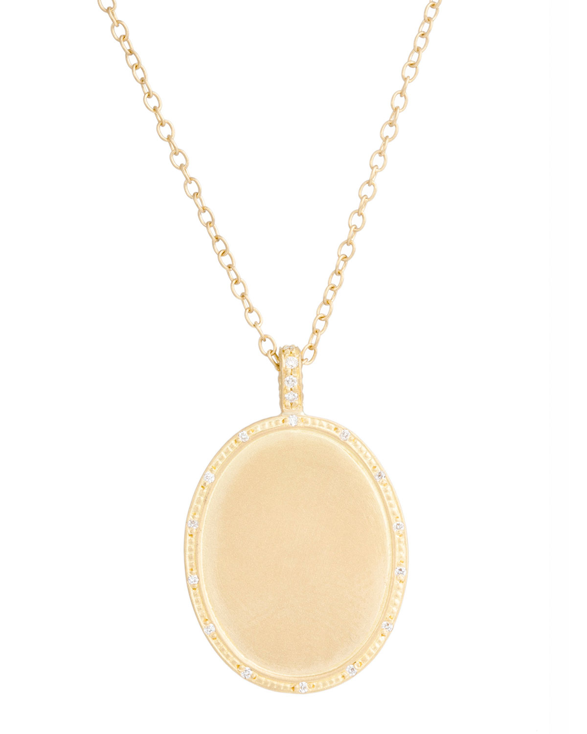 Lyst jamie wolf 18k yellow gold oval initial pendant necklace with gallery mozeypictures Gallery