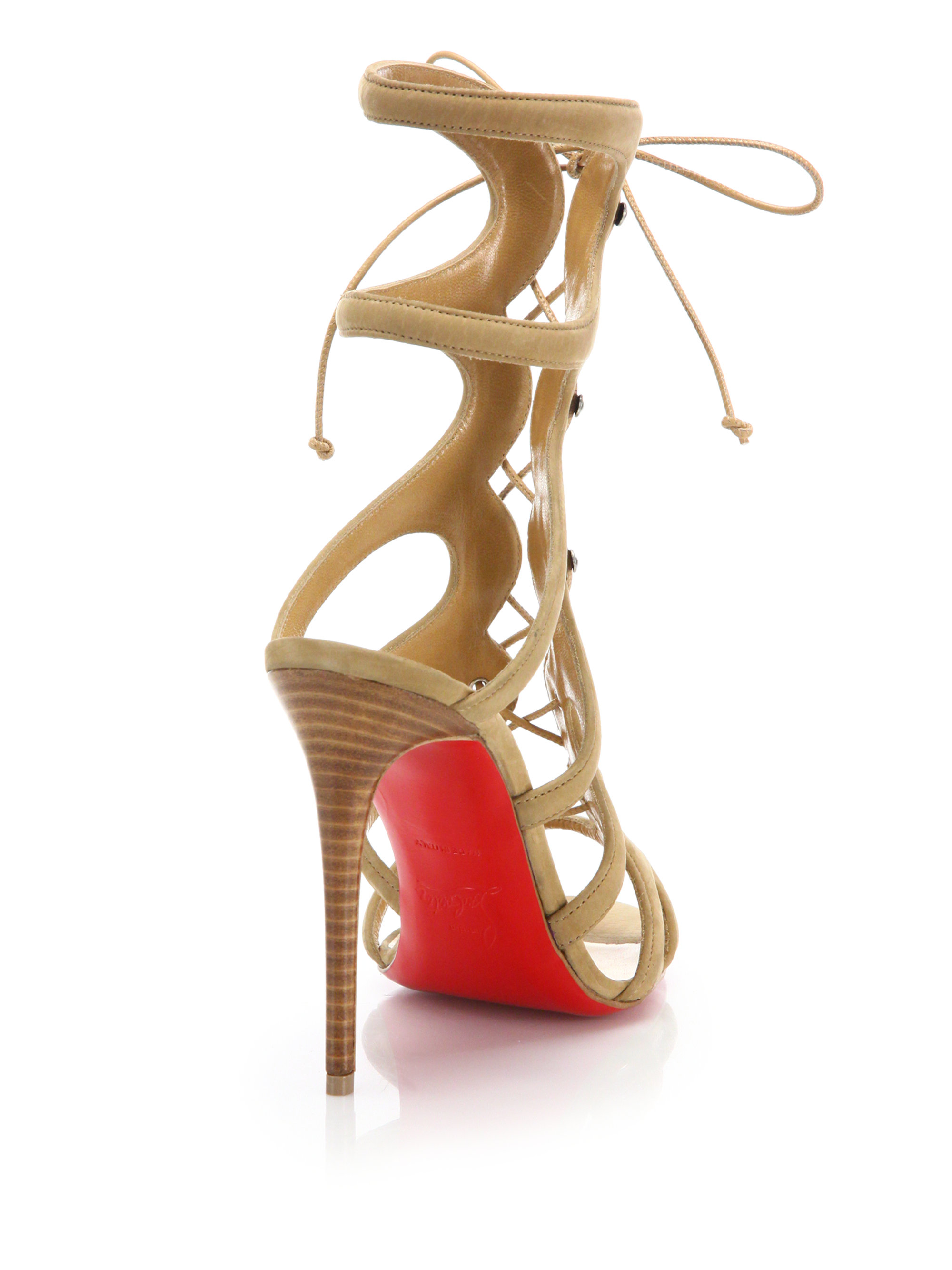 christian louboutin women's amazoulo lace-up sandals