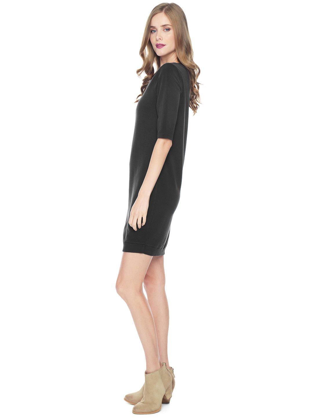 e70c921a65839 Splendid Sweatshirt Dress in Black - Lyst