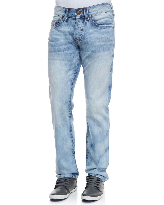 Blue Geno Bleach Light Antelope Jeans For