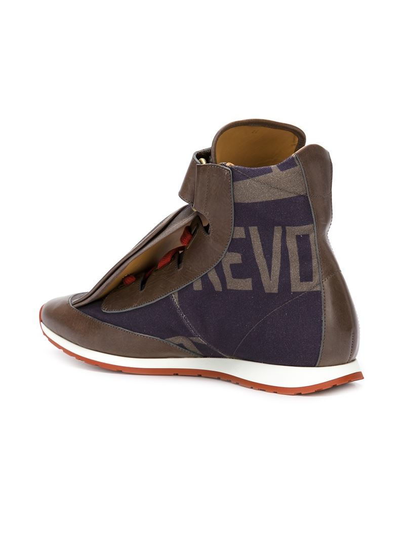 Vivienne westwood Three Tongue High-top Sneakers in Gray ...