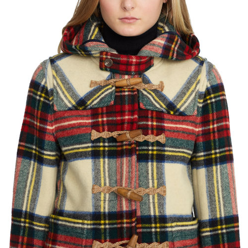 Polo ralph lauren Plaid Wool Duffel Coat | Lyst