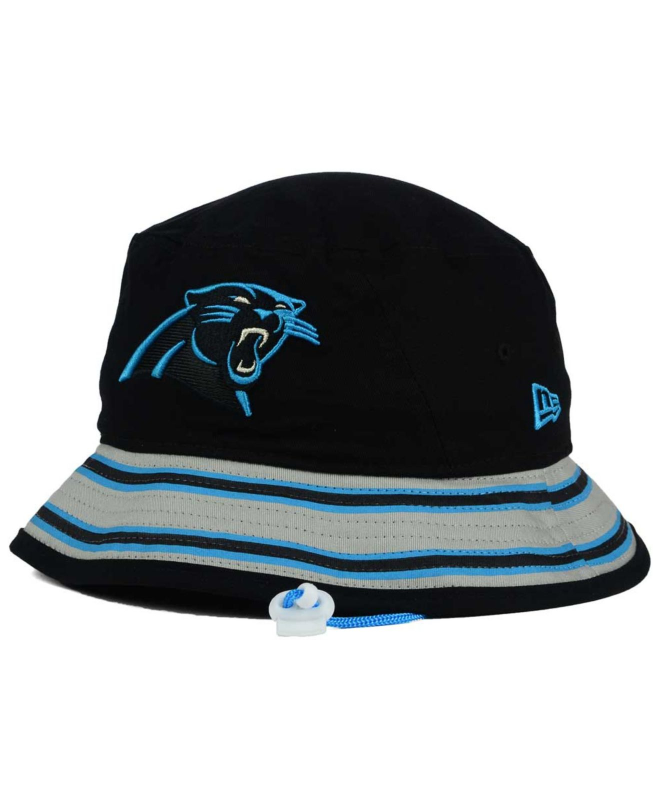 newest 8f855 3332f ... greece lyst ktz carolina panthers team stripe bucket hat in blue for  men c335d b4ef6