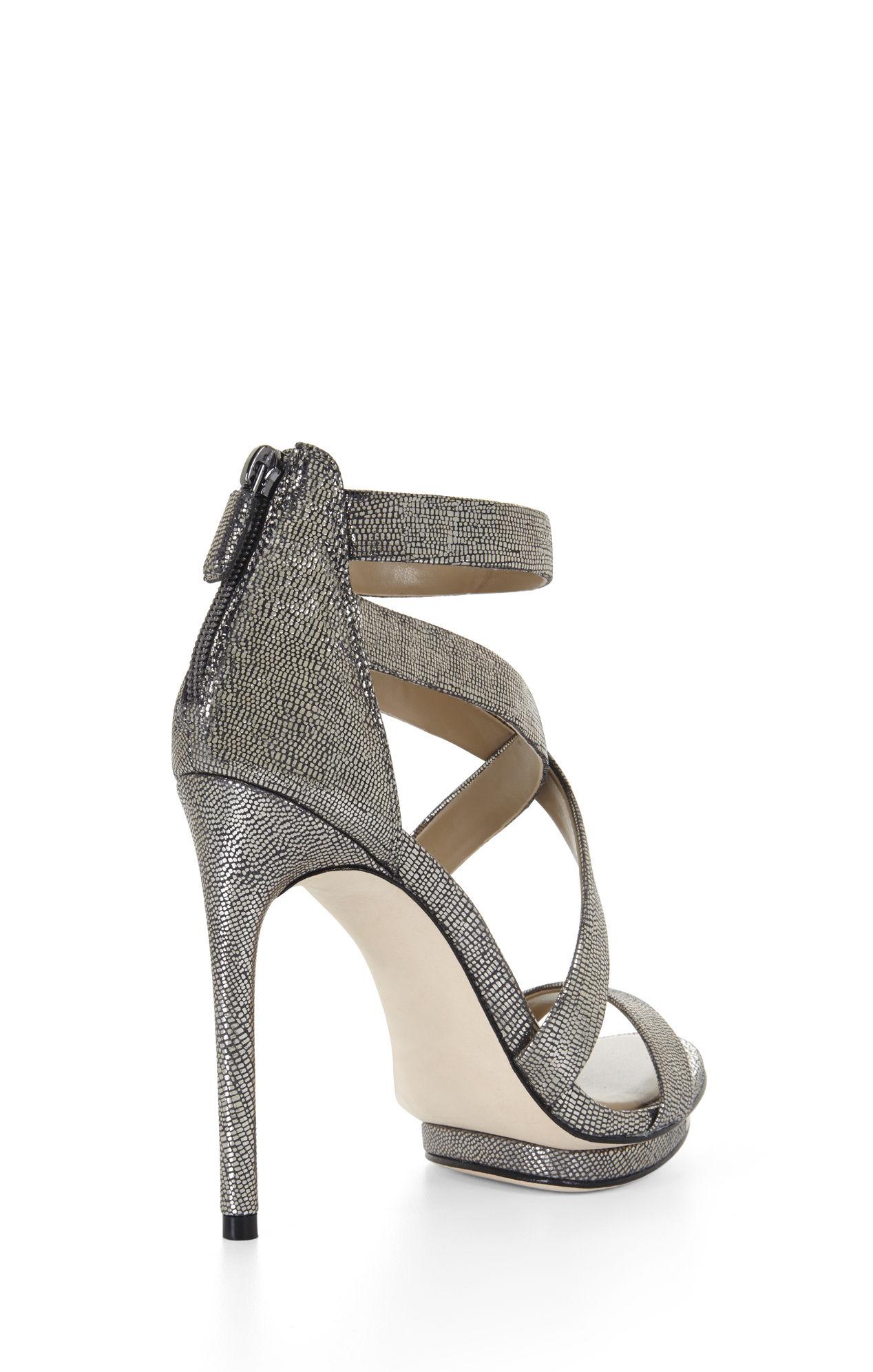 f17f9dfc0e3 Lyst - BCBGMAXAZRIA Leemour Strappy High-Heel Sandal in Gray