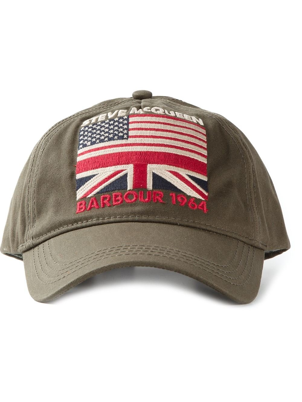 Lyst - Barbour Steve Mcqueen Usa Flag Cap in Green for Men f17153a3405