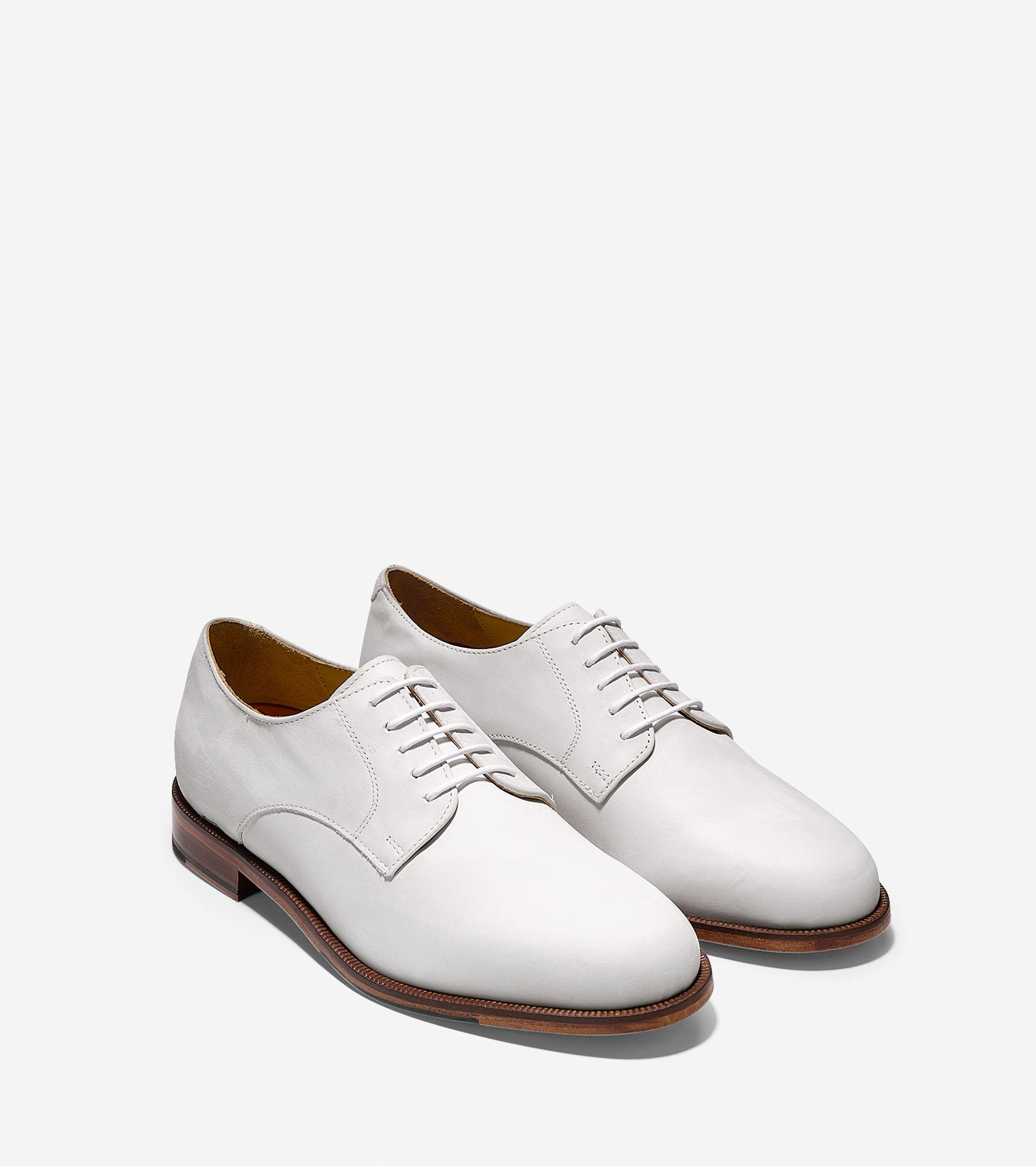 White Nubuck Oxford Shoes