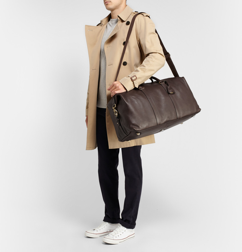 Lyst - Mulberry Clipper Leather Holdall Bag in Brown for Men 547b88ee64743