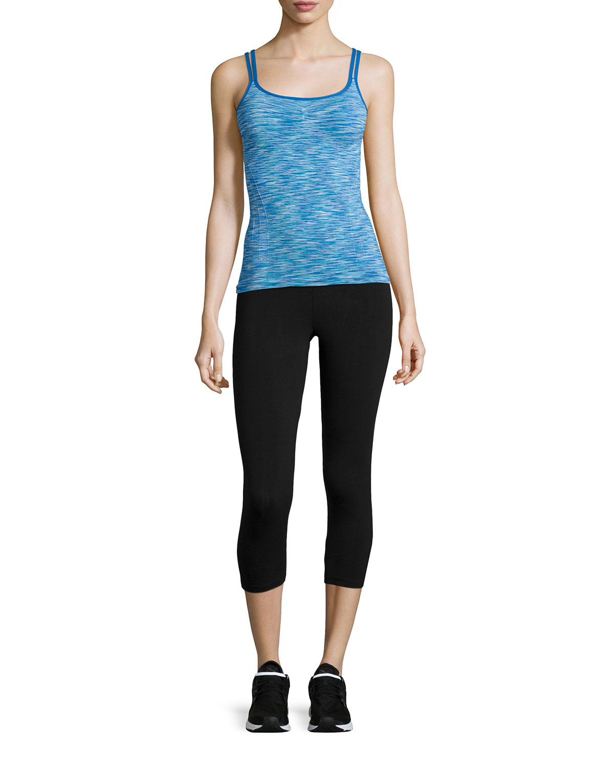 Electric Yoga Space-dyed Double-strap Tank In Blue