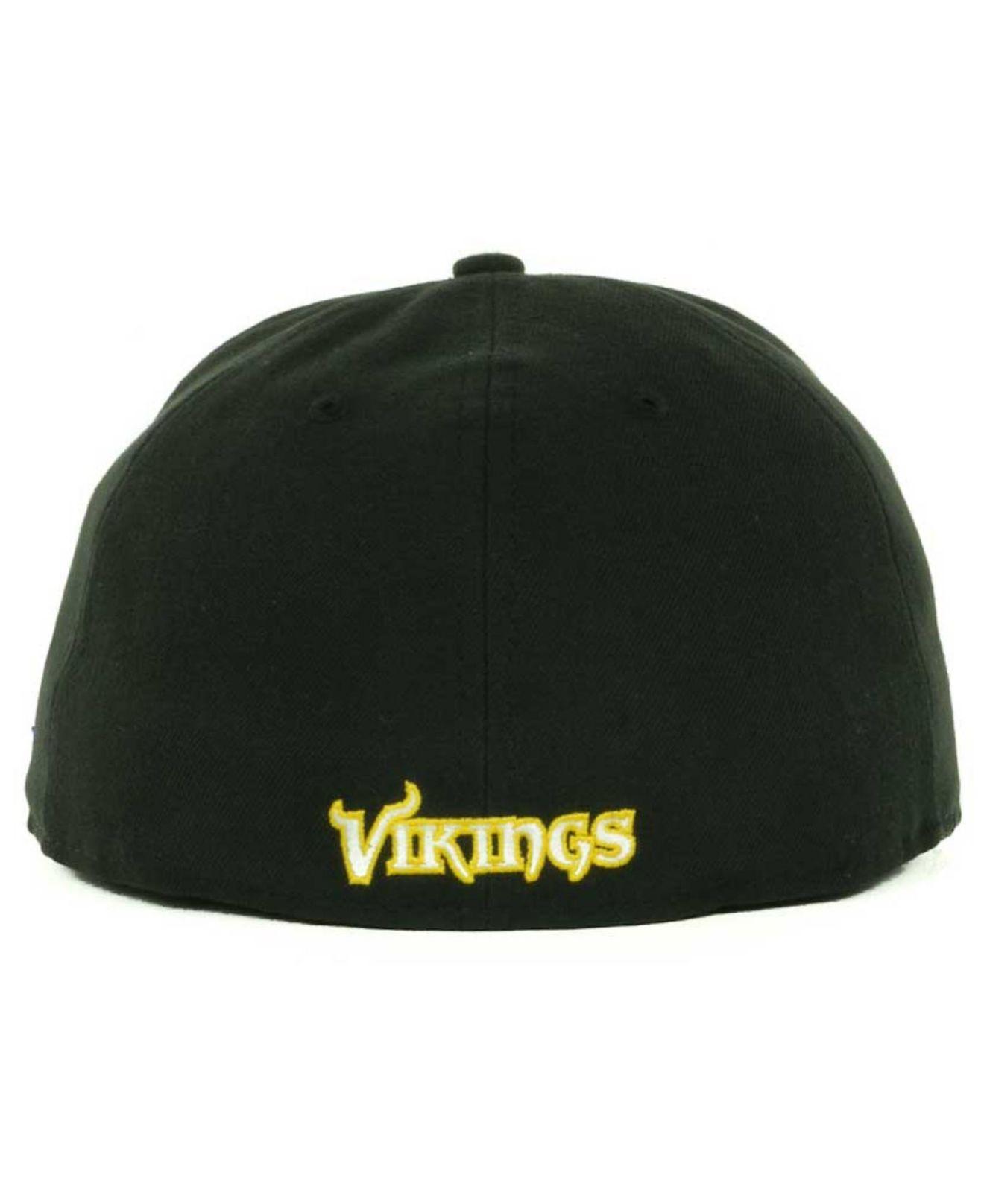 Lyst - Ktz Minnesota Vikings Nfl Black Team 59fifty Cap in Black for Men ceec0a71626