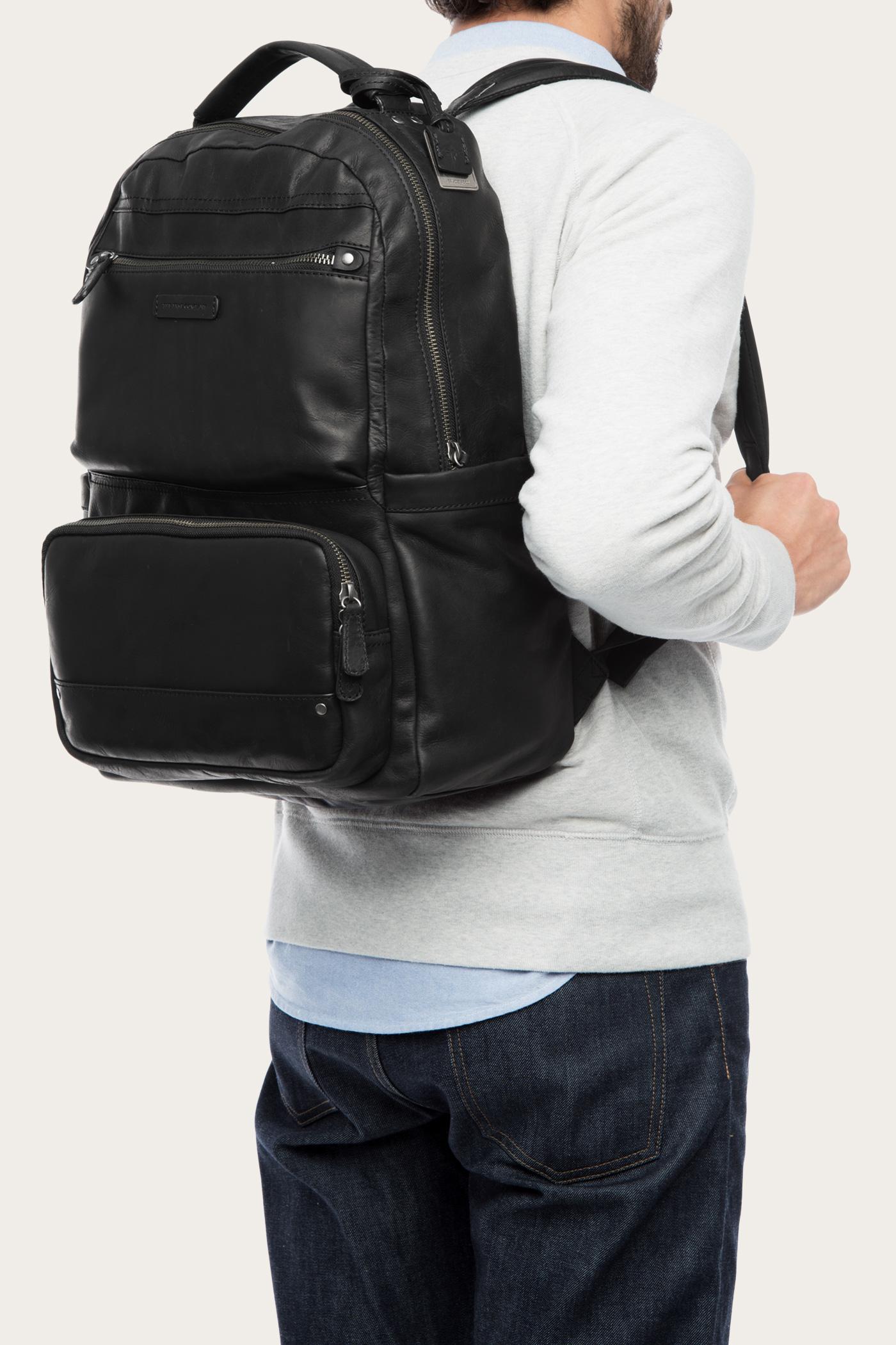 3ff077106228 Lyst - Frye Logan Backpack Large in Black for Men