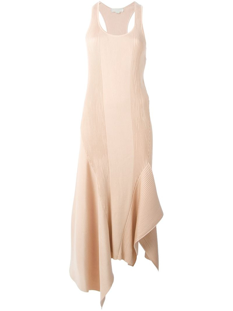 Wide Range Of Sale Online Beige long dress Stella McCartney Cheap Sale Purchase Free Shipping Low Price 9vVyB5