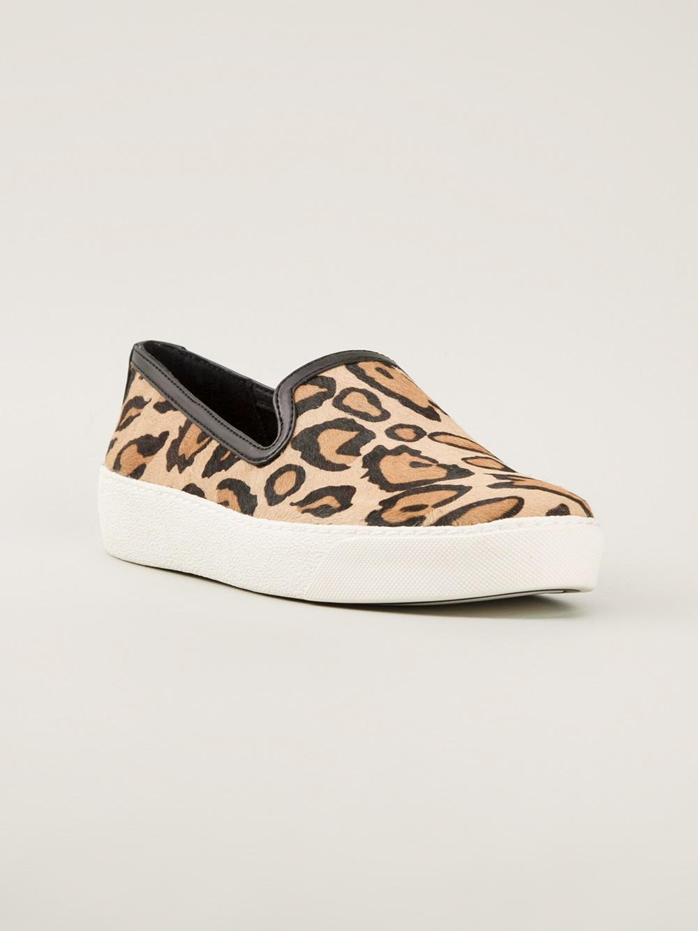 53b9835241bed Lyst - Sam Edelman Leopard Print Sneaker