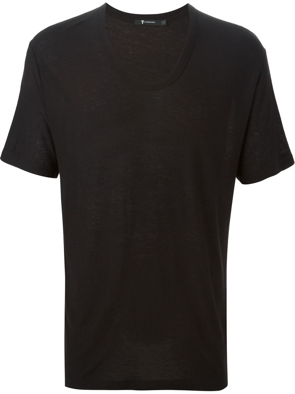 T by alexander wang scoop neck t shirt in black for men lyst for T by alexander wang t shirt