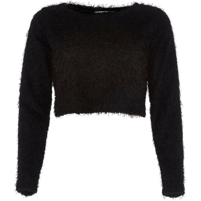River Island Black Fluffy Skirt