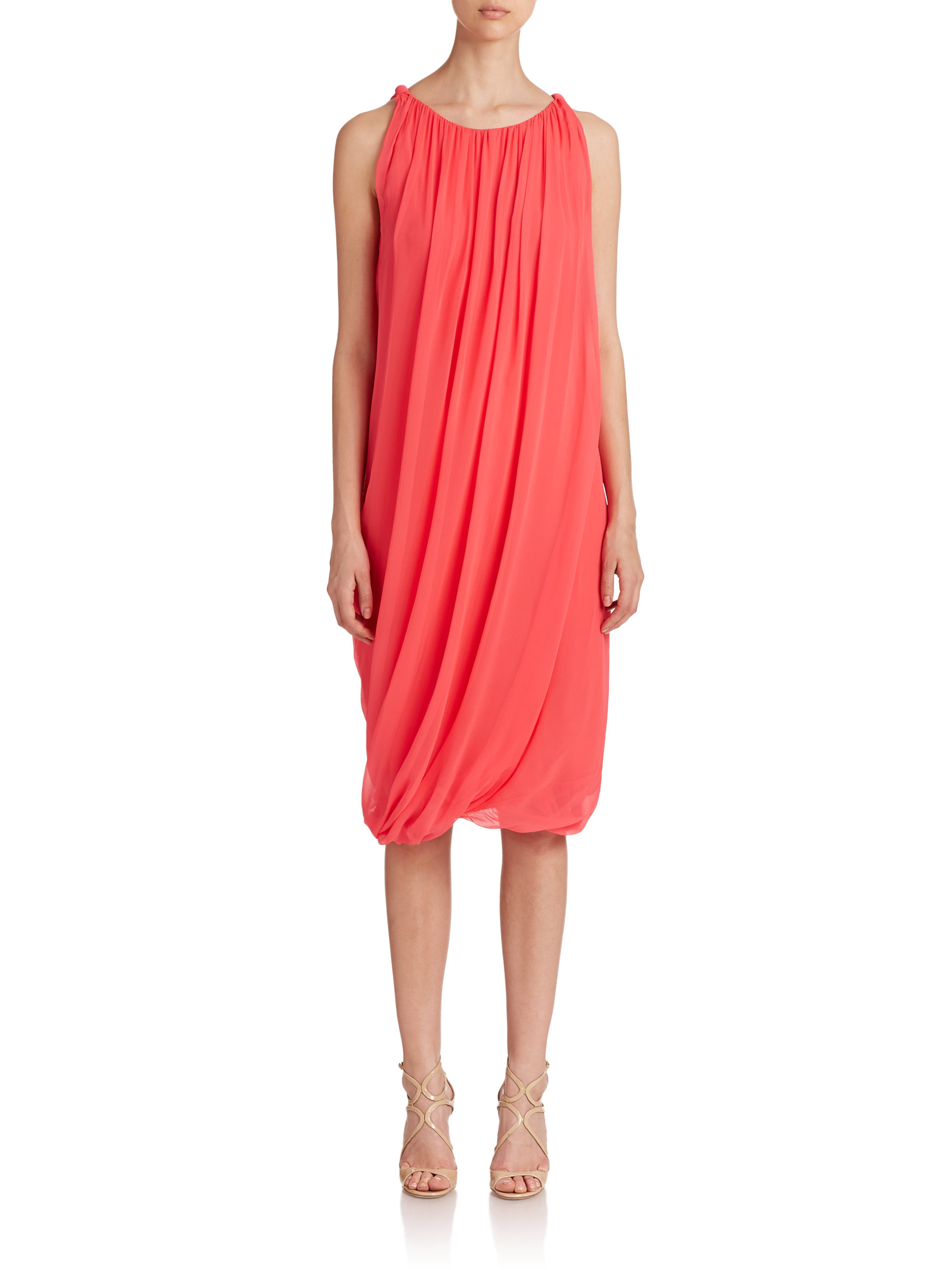 6a95f71c4a1 Lyst - Elie Tahari Alanis Dress in Red