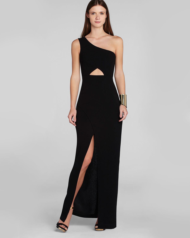 Lyst - Bcbgmaxazria Gown Kauri One Shoulder Cutout in Black