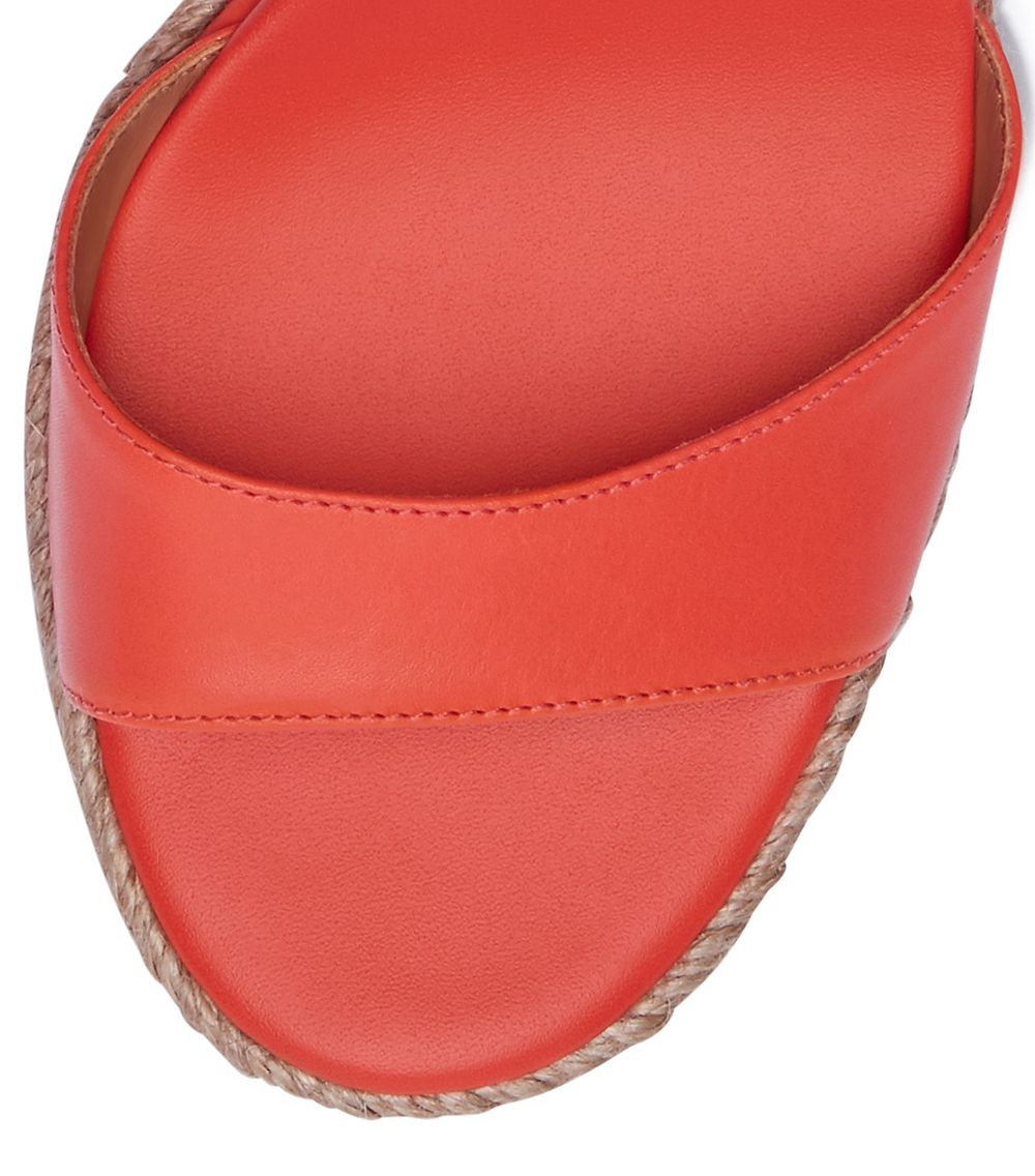 1141e38a4f21 Lyst - Tory Burch Marion Quilted Espadrille Wedge Sandal in Red