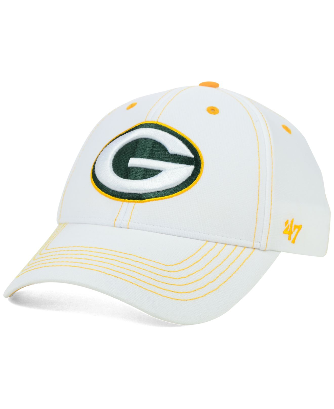 promo code b11fc 18582 ... clearance lyst 47 brand green bay packers white twig mvp cap in white  for men 38f63
